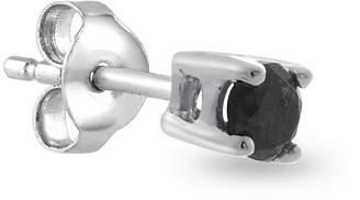 Black Diamond FINE JEWELRY Mens 1/10 CT. TW. Color-Enhanced 14K White Gold Stud Earring