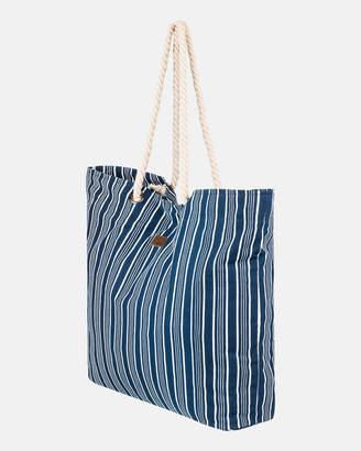Roxy Tropical Vibe Canvas Beach Bag