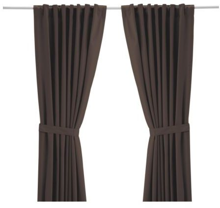 Ritva Pair Of Curtains With Tie-backs