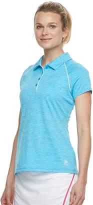 Fila Sport Women's SPORT Space-Dye Short Sleeve Golf Polo