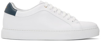 Paul Smith White and Blue Basso Sneakers