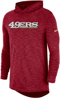Nike Men's San Francisco 49ers Dri-Fit Cotton Slub On-Field Hooded T-Shirt