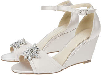 1f0232d20e6 Monsoon Diana Diamante Jewel Wedge Heels
