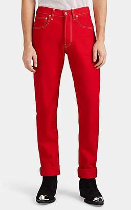 Helmut Lang Men's High-Rise Straight Jeans - Red