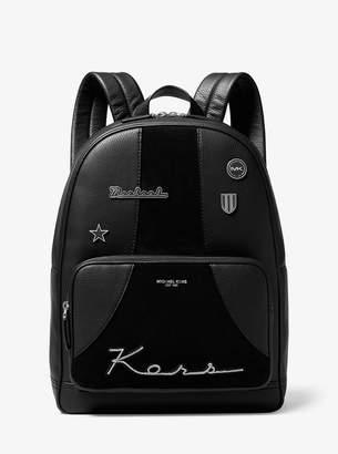 Michael Kors Bryant Retro Stripe Leather Backpack