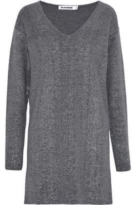 Jil Sander Metallic Wool-Blend Mini Dress