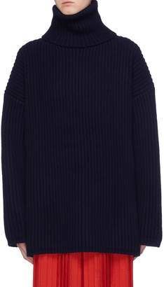 Acne Studios Wool chunky rib knit turtleneck sweater