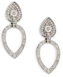 Pleve Opus Diamond& 18K White Gold Pear Stud& Ear Jacket Set