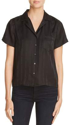 Alexander Wang Striped Silk Jacquard Shirt