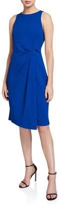 Julia Jordan Sleeveless Waist-Drape Sheath Dress