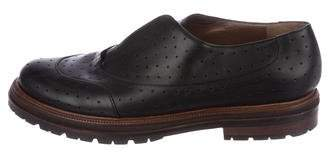 Marni Leather Perforated Oxfords