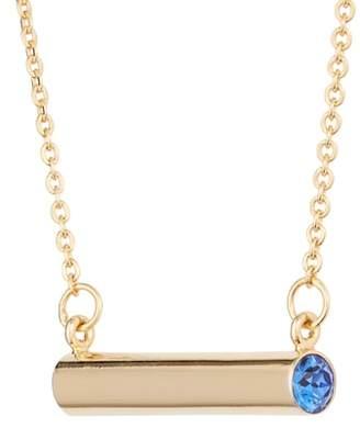 STELLA VALLE September Crystal Bar Pendant Necklace