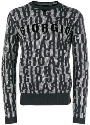 Giorgio Armani allover jacquard logo jumper