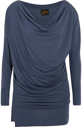 Vivienne Westwood Anglomania - Draped Stretch-jersey Top - Storm blue
