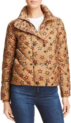 Scotch & Soda Star Print Cropped Puffer Jacket