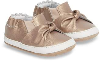 Robeez R) Bella's Bow Slip-On Crib Shoe