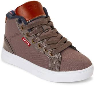 Levi's Kids Boys) Charcoal & Navy Cliff Canvas Sport Sneakers