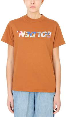 Golden Goose Iridescent Golden Print T-shirt