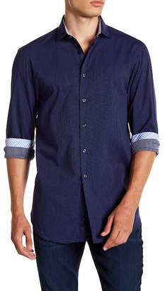 Michelson's Navy Pin Dot Slim Fit Shirt