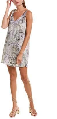 Lavender Brown Printed Shift Dress