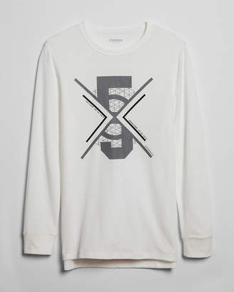Express Waffle Five Lines Long Sleeve Graphic Tee