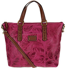 As Is Tignanello Palm Embossed Vintage Leather RFID Shopper