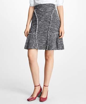 Brooks Brothers Tweed Fringe A-Line Skirt
