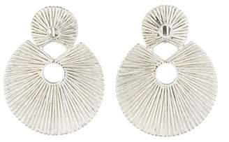 Josie Natori Silver Plated Brass Double Disc Earrings