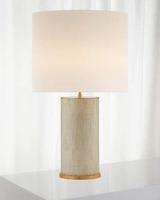 AERIN Eliot Bone Tile Table Lamp with Linen Shade