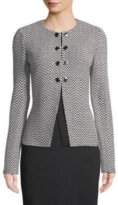 St. John Mod Herringbone Knit Jacket