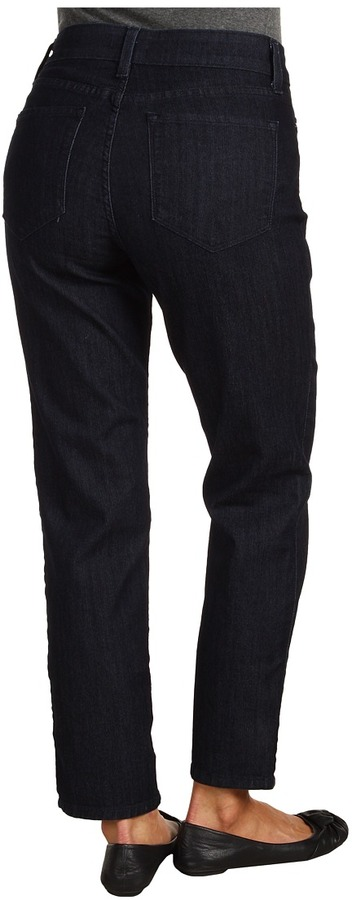 NYDJ Alisha 7/8 Skinny Ankle Denim in Dark Enzyme Wash (Dark Enzyme Wash) - Apparel