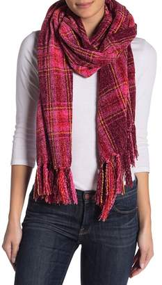 Collection XIIX Oversized Plaid Chenille Muffler Scarf