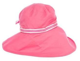 Eric Javits Stripe-Trimmed Floppy Hat