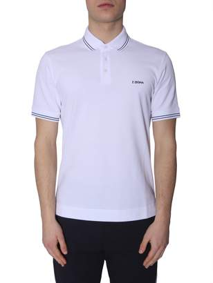 Ermenegildo Zegna Polo With Embroidered Logo