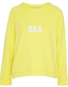 Sea Printed French Cotton-Terry Sweatshirt