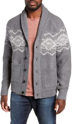 Michael Bastian Regular Fit Shawl Collar Cardigan