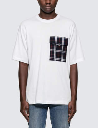 Helmut Lang Plaid Pocket T-Shirt