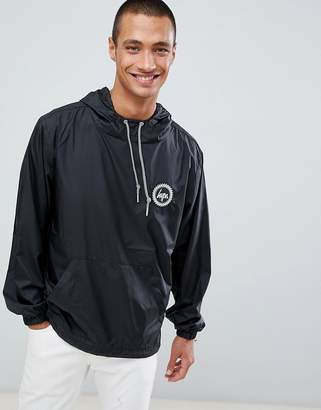 Hype overhead windbreaker in black