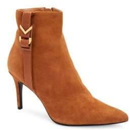 Calvin Klein Grace Suede Point-Toe Booties