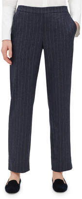 Lafayette 148 New York Fulton Glistening Pinstripe Back-Stretch Pants