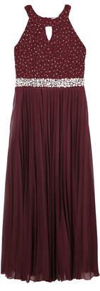 Speechless Social Jewel-Waist Formal Maxi Dress Size 7-16