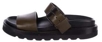 Ann Demeulemeester Leather Slide Sandals