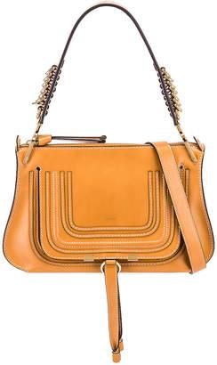 Chloé Medium Marcie Leather Saddle Bag in Autumnal Brown | FWRD