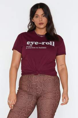 Nasty Gal Urgh Eye-Roll Graphic Tee