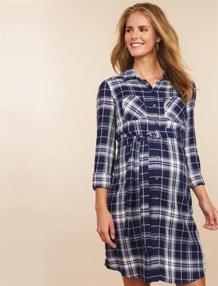 Motherhood Maternity Convertible Sleeve Maternity Dress