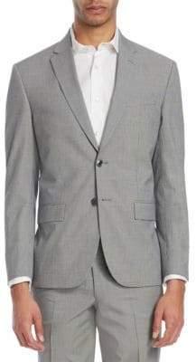 Saks Fifth Avenue Modern Micro Check Seersucker Jacket