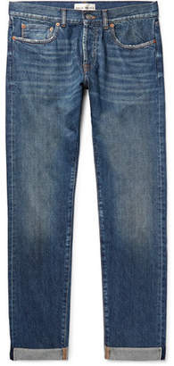 Privee SALLE Lewitt Distressed Selvedge Denim Jeans