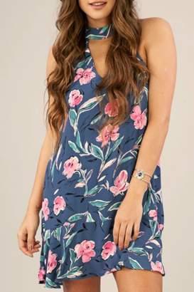 Peach Love California Blue Magnolia Dress