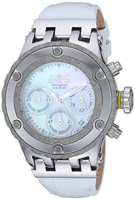 Invicta Women's 'Subaqua' Quartz Stainless Steel and Leather Casual Watch