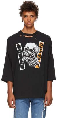 Unravel SSENSE Exclusive Black Skull T-Shirt